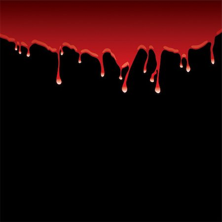 spilling blood texture - Blood red top border with dribble effect and black background Stock Photo - Budget Royalty-Free & Subscription, Code: 400-04655537
