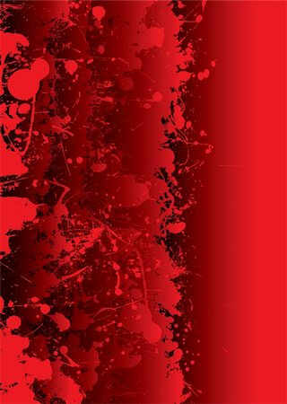 Blood red background with overlapping elements and splat Stock Photo - Budget Royalty-Free & Subscription, Code: 400-04657793