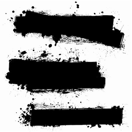splats of paint - three ink splat banners with grunge effect in black Stock Photo - Budget Royalty-Free & Subscription, Code: 400-04658801