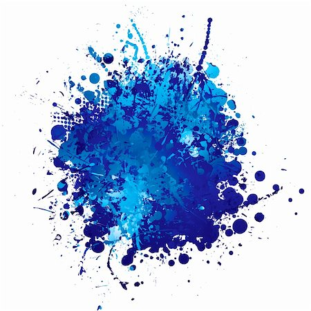 splat - shades of blue abstract ink splat with white background Stock Photo - Budget Royalty-Free & Subscription, Code: 400-04650981