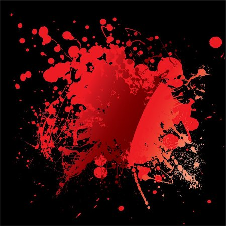 Abstract blood red background with grunge ink effect Stock Photo - Budget Royalty-Free & Subscription, Code: 400-04652884