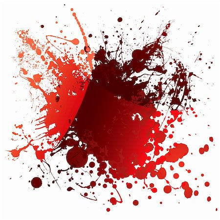 Abstract red blood background with light reflection and splatter Stock Photo - Budget Royalty-Free & Subscription, Code: 400-04652885