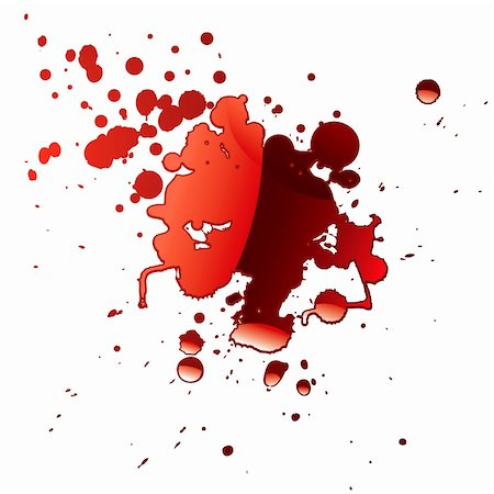 pool of blood red fluid with light reflection and splatter Stock Photo - Budget Royalty-Free & Subscription, Code: 400-04652886