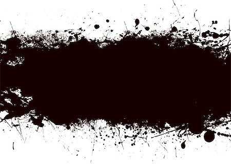 dripping splat - Ink black splat banner with room to add your own copy Stock Photo - Budget Royalty-Free & Subscription, Code: 400-04666185