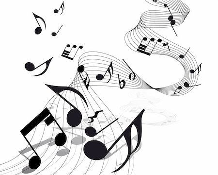 Vector musical notes staff background for design use Stock Photo - Budget Royalty-Free & Subscription, Code: 400-04666633