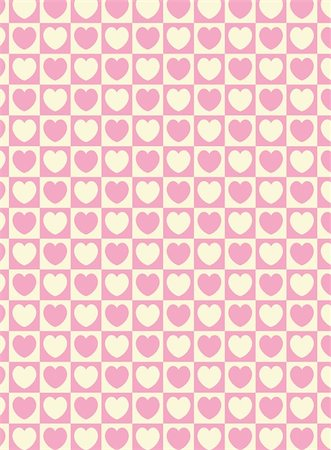 Vector swatch heart striped squares fabric wallpaper in pink and ecru that matches Valentine borders. Stock Photo - Budget Royalty-Free & Subscription, Code: 400-04668344