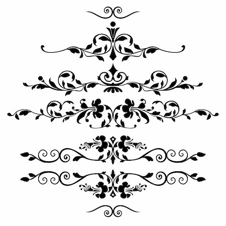 elakwasniewski (artist) - Vector floral ornaments for greetings cards, design or backgrounds. All elements are on separate layers for easy editing and color change. Full scalable vector graphic included Eps v8 and 300 dpi JPG. Stock Photo - Budget Royalty-Free & Subscription, Code: 400-04669155