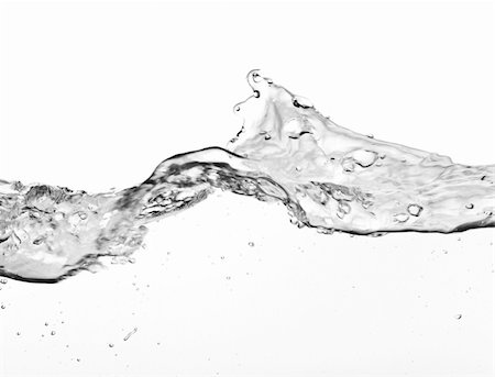 close-up of large water wave on white background Stock Photo - Budget Royalty-Free & Subscription, Code: 400-04669604