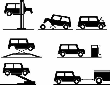 car repair vector icons Stock Photo - Budget Royalty-Free & Subscription, Code: 400-04669600
