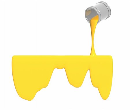 pouring paint art - Yellow paint pour out from bucket Stock Photo - Budget Royalty-Free & Subscription, Code: 400-04660120