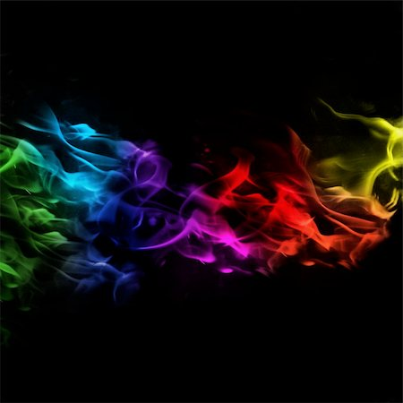 Rainbow Flames Background with high Contrast colours Stock Photo - Budget Royalty-Free & Subscription, Code: 400-04661254