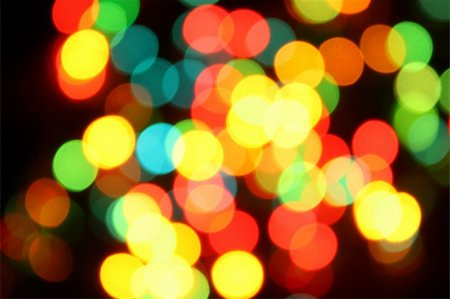 Color christmas lights on the tree Stock Photo - Budget Royalty-Free & Subscription, Code: 400-04663696
