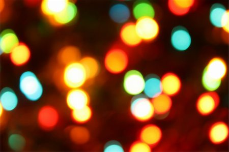Color christmas lights on the tree Stock Photo - Budget Royalty-Free & Subscription, Code: 400-04663697
