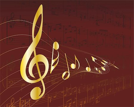 Vector musical notes staff background for design use Stock Photo - Budget Royalty-Free & Subscription, Code: 400-04663825