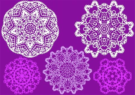 delicate lace pattern, vector Stock Photo - Budget Royalty-Free & Subscription, Code: 400-04674443