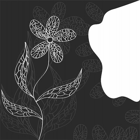 Background with decorative flower Stock Photo - Budget Royalty-Free & Subscription, Code: 400-04677311