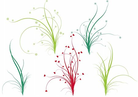 spring nature, floral grass designs, vector Stock Photo - Budget Royalty-Free & Subscription, Code: 400-04677322