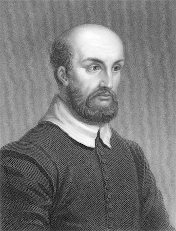 Andrea Palladio (1508-1580) on engraving from the 1800s. Italian Renaissance architect. Engraved by R.Woodman from a picture by Bigleoschi and published in London by Charles Knight, Ludgate Street. Stock Photo - Budget Royalty-Free & Subscription, Code: 400-04677552