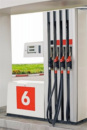 rural gas station - Petrol station pumps at the rural area Stock Photo - Budget Royalty-Free & Subscription, Code: 400-04679694