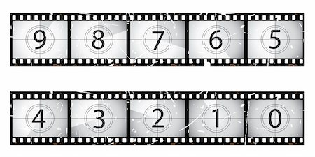 Old film countdown.  Part of my film series. Stock Photo - Budget Royalty-Free & Subscription, Code: 400-04679702