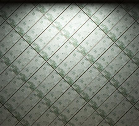 simsearch:400-05245734,k - illuminated tile wall made in 3D graphics Stock Photo - Budget Royalty-Free & Subscription, Code: 400-04679917