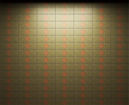 simsearch:400-05245734,k - illuminated tile wall made in 3D graphics Stock Photo - Budget Royalty-Free & Subscription, Code: 400-04679919