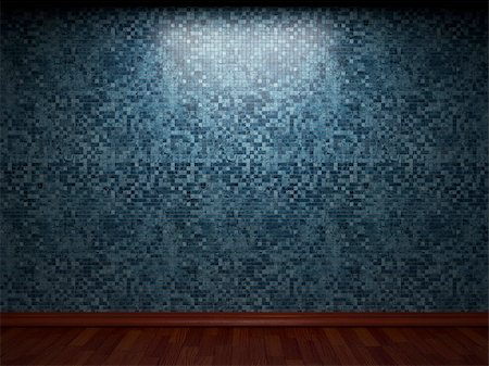 simsearch:400-05245734,k - illuminated tile wall made in 3D graphics Stock Photo - Budget Royalty-Free & Subscription, Code: 400-04679928