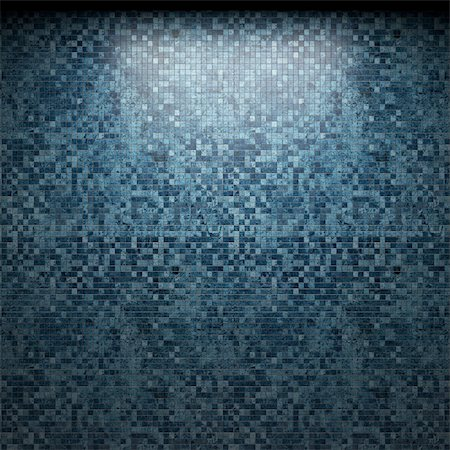 simsearch:400-05245734,k - illuminated tile wall made in 3D graphics Stock Photo - Budget Royalty-Free & Subscription, Code: 400-04679929