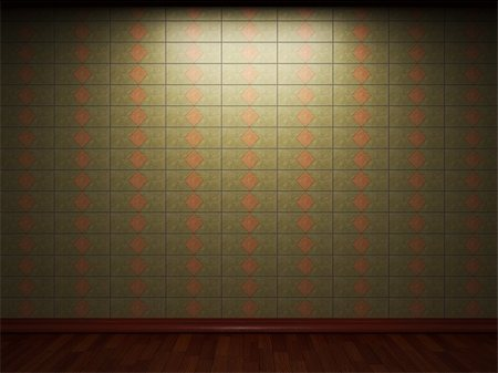 simsearch:400-05245734,k - illuminated tile wall made in 3D graphics Stock Photo - Budget Royalty-Free & Subscription, Code: 400-04679920