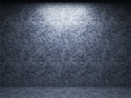 simsearch:400-05245734,k - illuminated tile wall made in 3D graphics Stock Photo - Budget Royalty-Free & Subscription, Code: 400-04679930