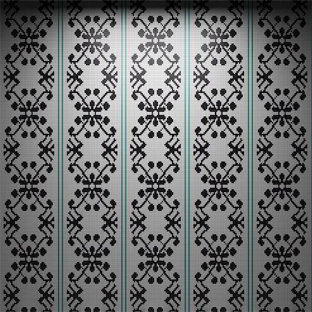 simsearch:400-05245734,k - illuminated tile wall made in 3D graphics Stock Photo - Budget Royalty-Free & Subscription, Code: 400-04679931