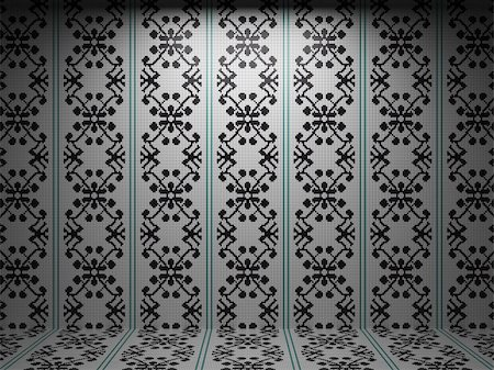 simsearch:400-05245734,k - illuminated tile wall made in 3D graphics Stock Photo - Budget Royalty-Free & Subscription, Code: 400-04679932