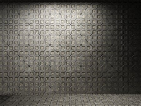 simsearch:400-05245734,k - illuminated tile wall made in 3D graphics Stock Photo - Budget Royalty-Free & Subscription, Code: 400-04679949