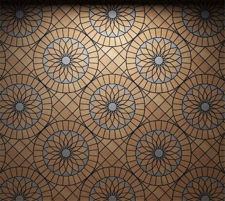 simsearch:400-05245734,k - illuminated tile wall made in 3D graphics Stock Photo - Budget Royalty-Free & Subscription, Code: 400-04679941