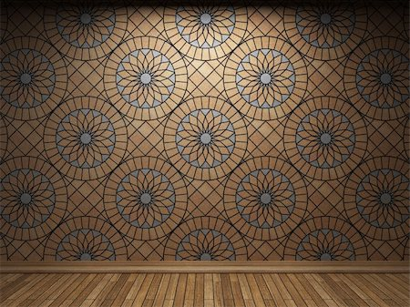 simsearch:400-05245734,k - illuminated tile wall made in 3D graphics Stock Photo - Budget Royalty-Free & Subscription, Code: 400-04679942