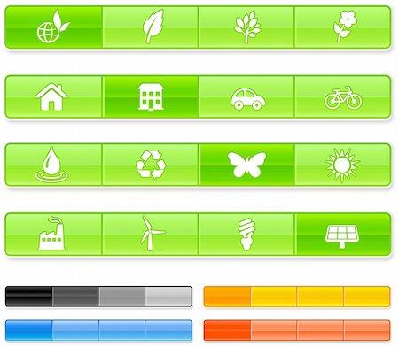 Nature Bar Icons Original vector Illustration Stock Photo - Budget Royalty-Free & Subscription, Code: 400-04670790