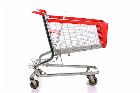 empty shopping cart - Empty a shopping cart over white background Stock Photo - Budget Royalty-Free & Subscription, Code: 400-04670846