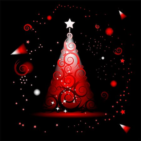 Christmas tree beautiful Stock Photo - Budget Royalty-Free & Subscription, Code: 400-04671504