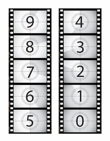 Vertical film countdown, part of my film collection. Stock Photo - Budget Royalty-Free & Subscription, Code: 400-04672367
