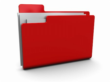 3d illustration of red folder icon over white background Stock Photo - Budget Royalty-Free & Subscription, Code: 400-04672624