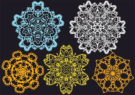 set of lace doilies, vector pattern Stock Photo - Budget Royalty-Free & Subscription, Code: 400-04672960