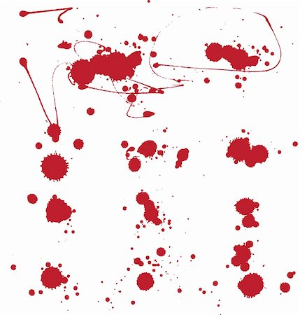 paint dripping abstract pattern - Blood. Set of grunge vector. Stock Photo - Budget Royalty-Free & Subscription, Code: 400-04673591