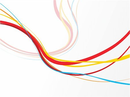 abstract colourful rainbow wave lines with blank space of sample text vector illustration Stock Photo - Budget Royalty-Free & Subscription, Code: 400-04684642