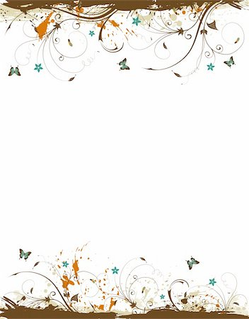 simsearch:400-03995944,k - Grunge paint flower frame, element for design, vector illustration Stock Photo - Budget Royalty-Free & Subscription, Code: 400-04687855