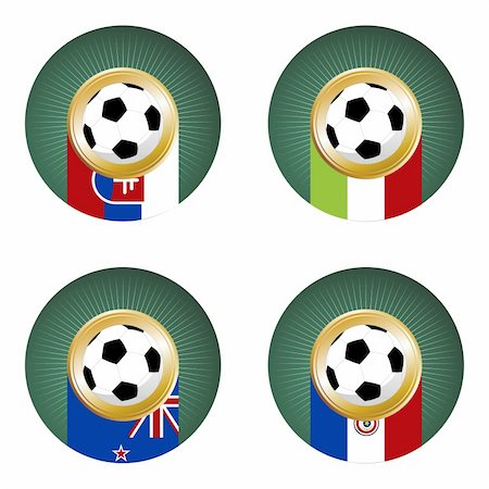 Composition with soccer balls in the flags of each country of the group F to the 2010 soccer World Cup Stock Photo - Budget Royalty-Free & Subscription, Code: 400-04689247