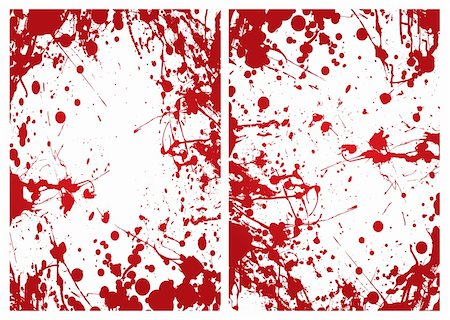 dripping blood illustration - Red grunge ink splat blood border or frame background Stock Photo - Budget Royalty-Free & Subscription, Code: 400-04689267