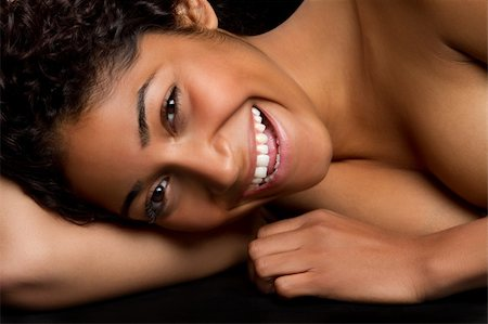 Beautiful laughing black woman Stock Photo - Budget Royalty-Free & Subscription, Code: 400-04689683