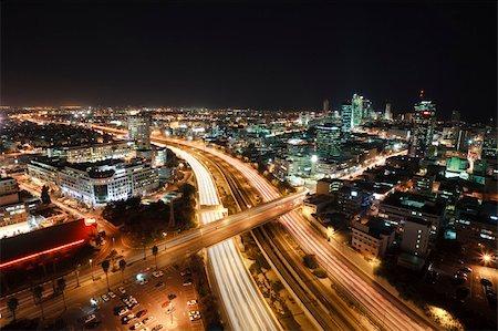 slidezero - The night Tel Aviv city - View of Tel Aviv at night. Stock Photo - Budget Royalty-Free & Subscription, Code: 400-04680244