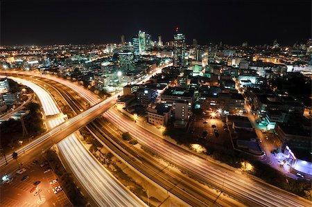 slidezero - The night Tel Aviv city - View of Tel Aviv at night. Stock Photo - Budget Royalty-Free & Subscription, Code: 400-04680246