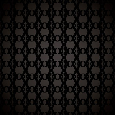 Abstract black background with seamless tile with floral effect Stock Photo - Budget Royalty-Free & Subscription, Code: 400-04680314
